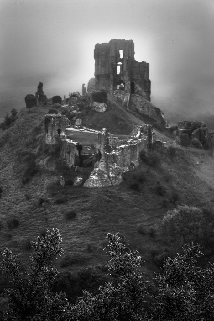 Corfe Castle at Dawn