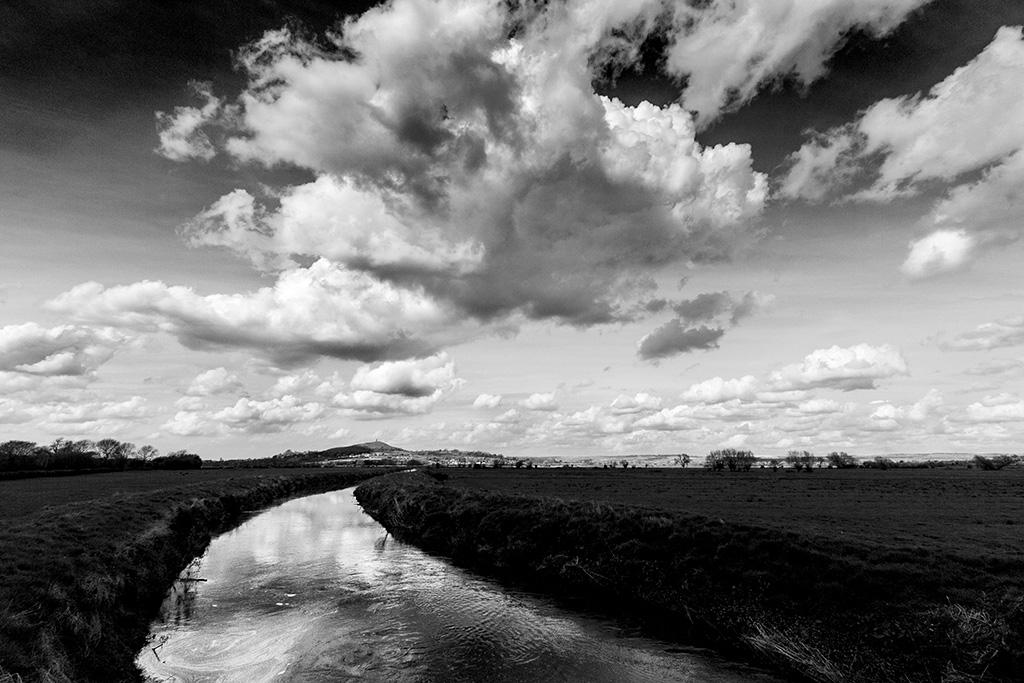 Big Sky Over Glastonbury - Brian Clarke