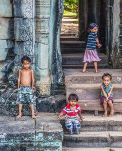 Kids at Angkor Wat